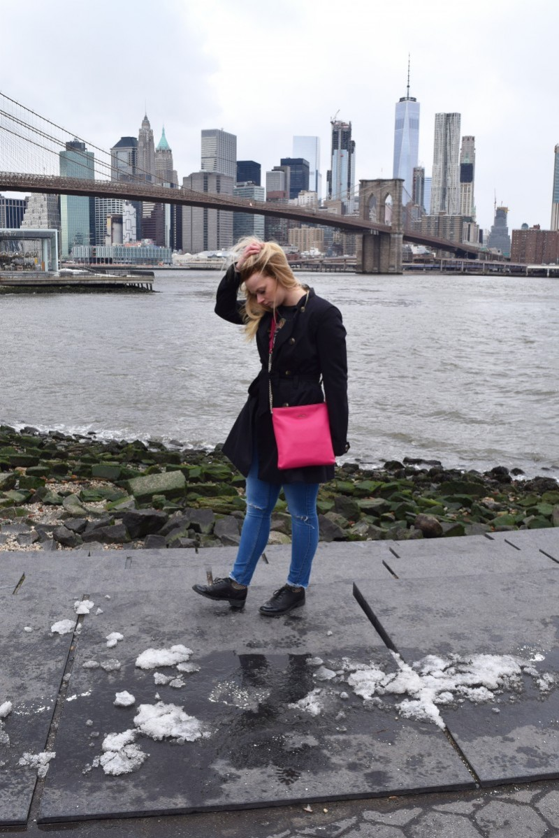 wie weggeweht-swanted-outfit-fashion-furla-pink bag-new york skyline
