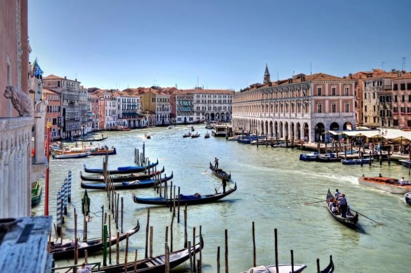 Venedig-Europa-Wasser-Swanted-Stadt-Skyline-Gondel