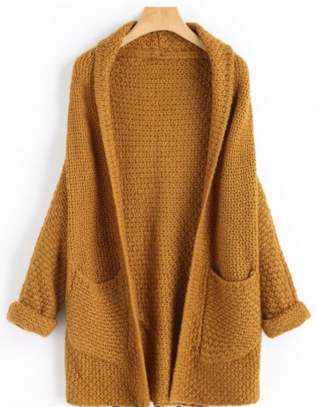 Pullover-Schleifen-Swanted-Grau-Zaful-V-Ausschnitt-Fall-Winter-Strickjacke-gelb
