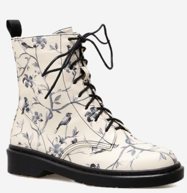 Boots-Schuhe-Fall-Winter-Swanted-black-Zaful-Muster-Flower