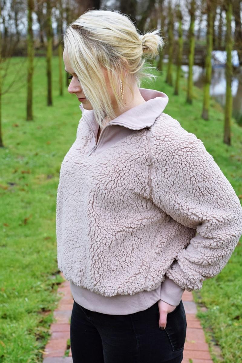 Stadt-Land-Fluss-Outfit-Fashion-Teddyfleece-Kuschelpullover-Landleben-Swanted-Asos-H&M