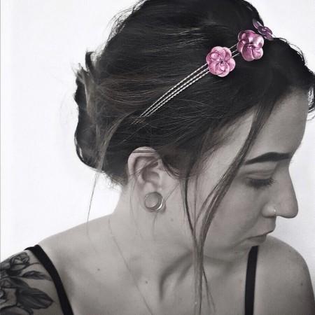 Nagellack-Haarreif-Blüten-DIY-Do it yourself-Selfmade-Swanted-Blog