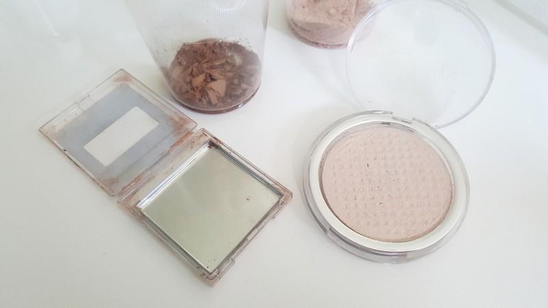 gebrochenes Puder-Kaputt-Make up-Highlighter-Rouge-Bronzer-Swanted-Blog